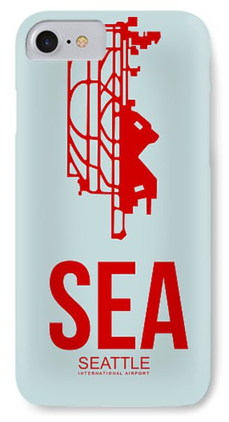 Sea Seattle Airport Poster 1 IPhone Case