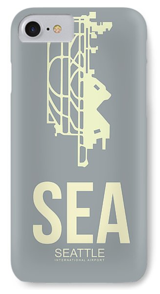 Sea Seattle Airport Poster 3 IPhone Case