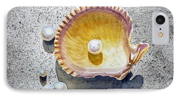 Sea Shell And Pearls Phone Case by Irina Sztukowski