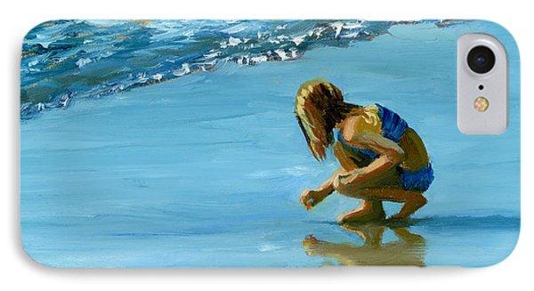 Sea Shell Seeker Phone Case by Alice Leggett