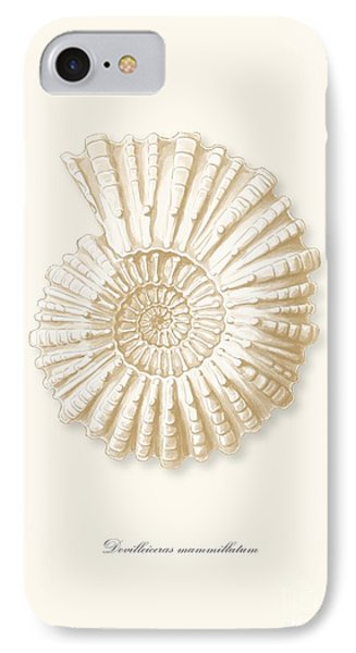 Sea Shell White French Vintage IPhone Case by Patruschka Hetterschij