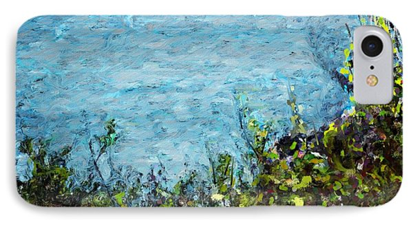 IPhone Case featuring the digital art Sea Shore 1 by David Lane