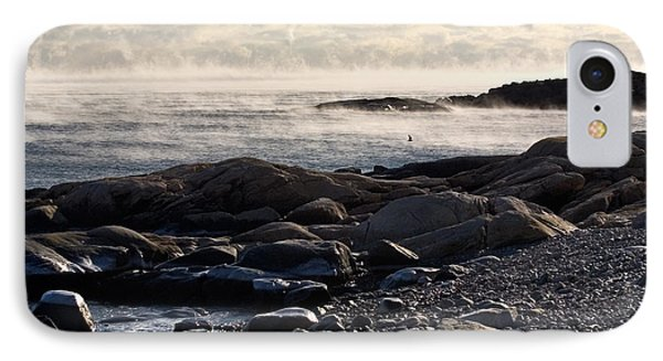 Sea-smoke At Schoodic Phone Case by Brent L Ander