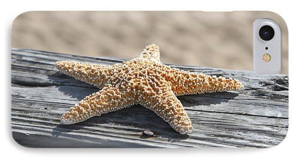 Sea Star On Railing IPhone Case by Cathy Lindsey