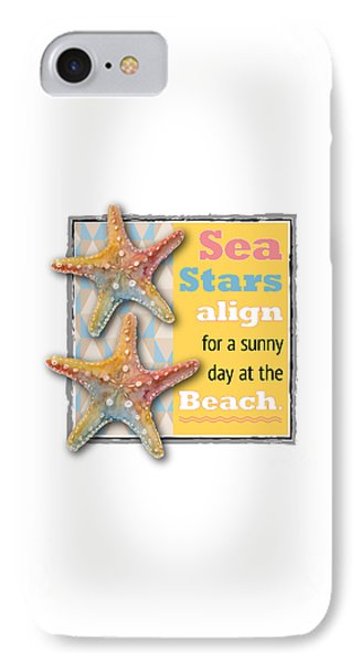 Sea Stars Align For A Sunny Day At The Beach. IPhone Case by Amy Kirkpatrick