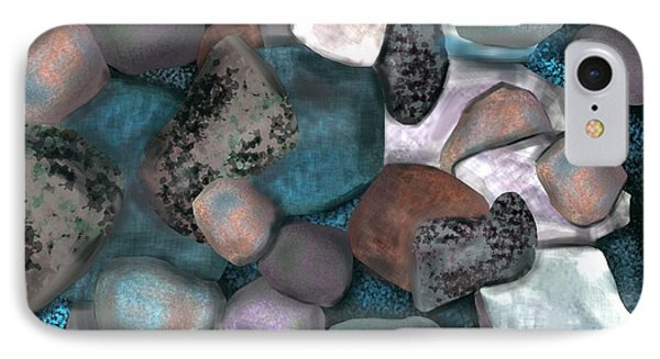 Sea Stones Phone Case by Christine Fournier
