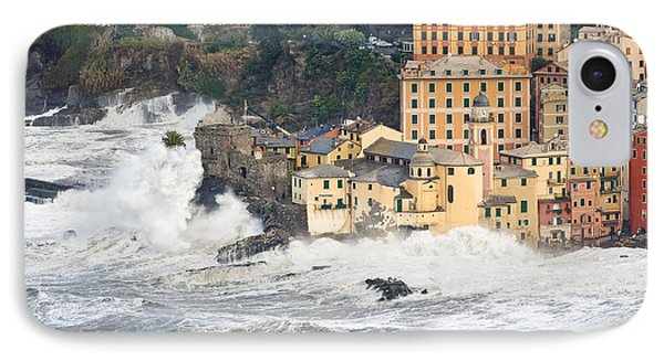 IPhone Case featuring the photograph Sea Storm In Camogli - Italy by Antonio Scarpi