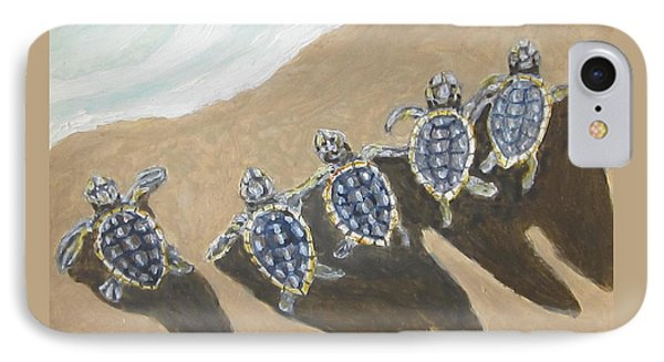 Sea Turtle Babes IPhone Case by Anne Marie Brown