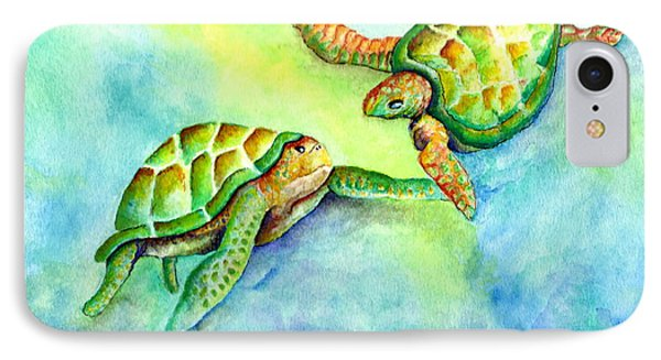 Sea Turtle Courtship IPhone Case