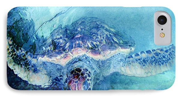 Sea Turtle Grand Cayman IPhone Case by Ann Powell