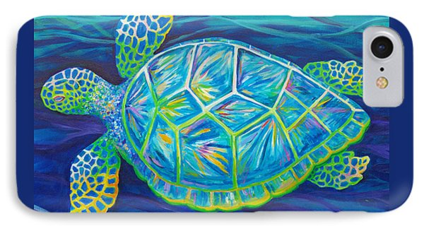 Sea Turtle I IPhone Case by Anne Marie Brown