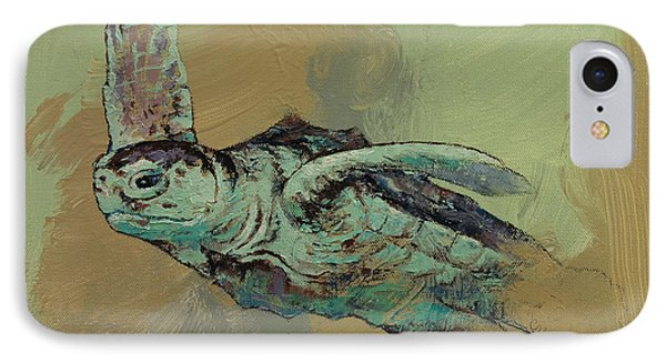 Sea Turtle IPhone Case by Michael Creese