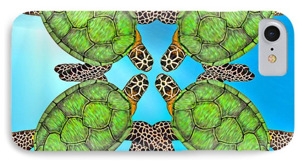 Sea Turtles IPhone Case by Betsy Knapp