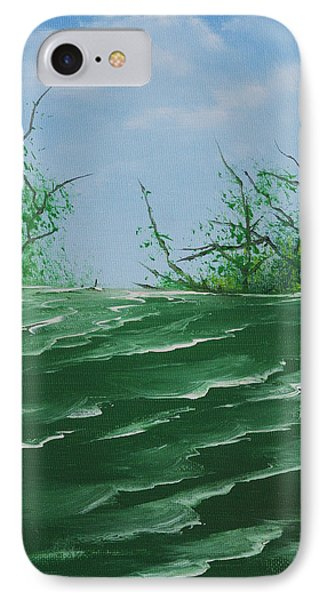 IPhone Case featuring the painting Seafoam Surf by Jennifer Muller