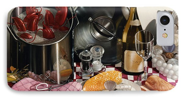 Seafood Serenade 1996  Skewed Perspective Series 1991 - 2000 IPhone Case by Larry Preston