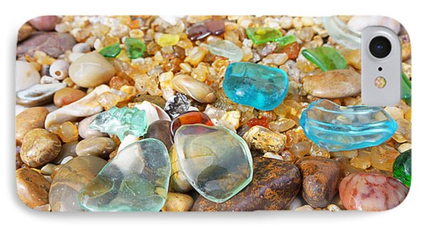 Seaglass Coastal Beach Rock Garden Agates IPhone Case by Baslee Troutman