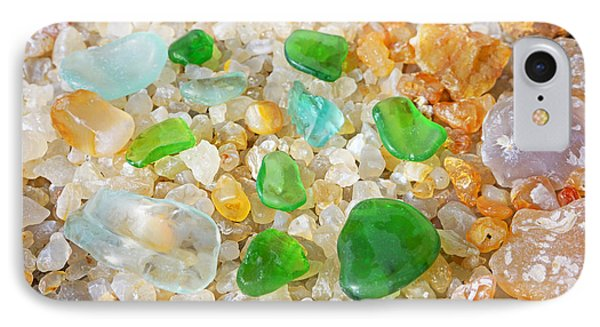 Seaglass Green Art Prints Agates Beach Garden IPhone Case by Baslee Troutman