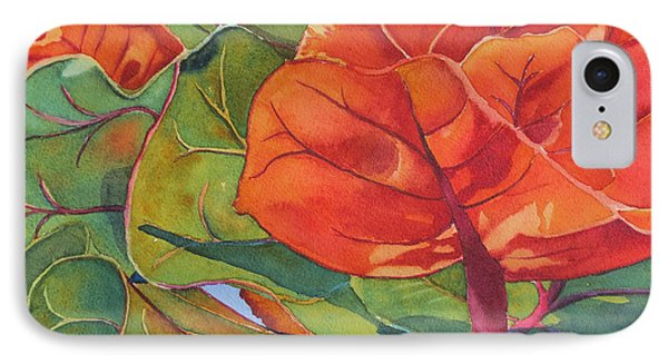 Seagrape Leaves IPhone Case by Judy Mercer