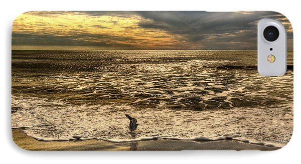 IPhone Case featuring the photograph Seagull Sunset Bath by Julis Simo