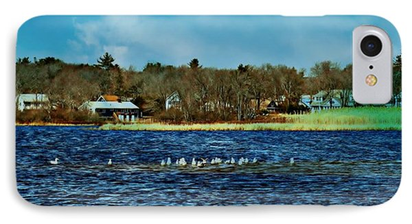 Seagull Gathering Phone Case by Barbara S Nickerson