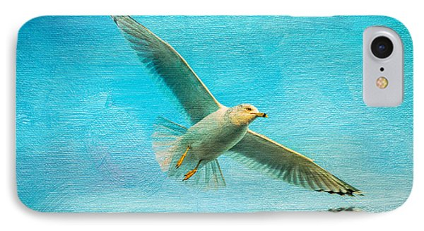 Seagull In Flight IPhone Case by Michael Petrizzo