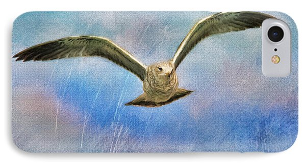 Seagull In The Storm IPhone Case by Deborah Benoit