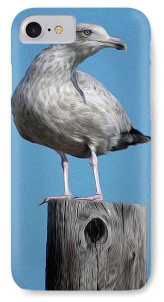 IPhone Case featuring the digital art Seagull by Kelvin Booker