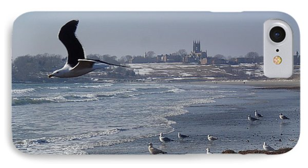 Seagull IPhone Case by Robert Nickologianis