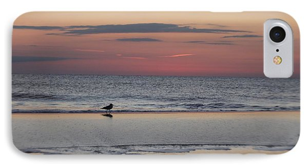 IPhone Case featuring the photograph Seagull Strolls The Seashore by Robert Banach