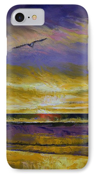 Seagull Sunset IPhone Case by Michael Creese