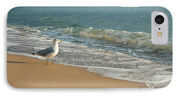 Seagull Walking On A Beach Phone Case by Sharon Dominick