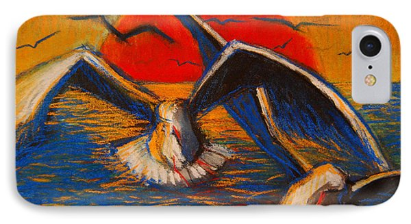 Seagulls At Sunset IPhone Case by Mona Edulesco