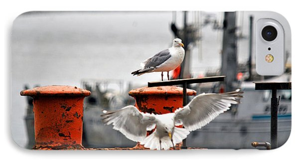 Seagulls Expression Phone Case by Debra  Miller