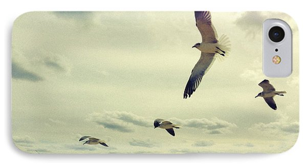 Seagulls In Flight IPhone Case by Bradley R Youngberg