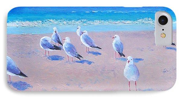 Seagulls IPhone Case by Jan Matson