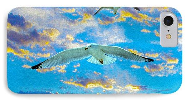 Seagulls  IPhone Case by Jon Neidert