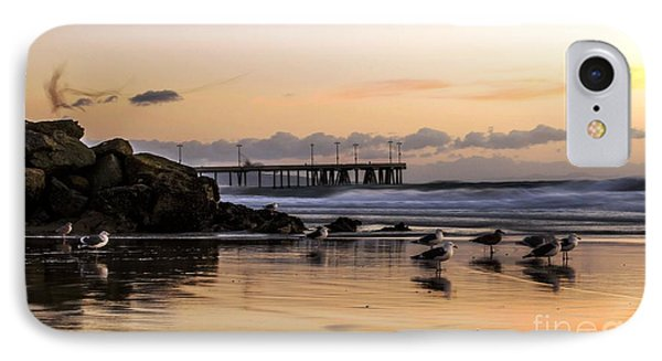 Seagulls On The Coast IPhone Case by Mike Ste Marie