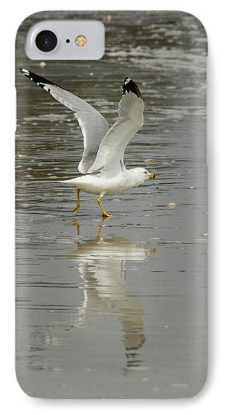 Seagulls Takeoff Phone Case by Kathy Gibbons