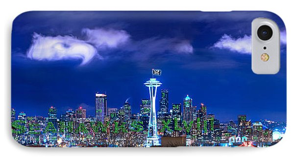 Seahawks Xlviii IPhone Case by Lori Grimmett