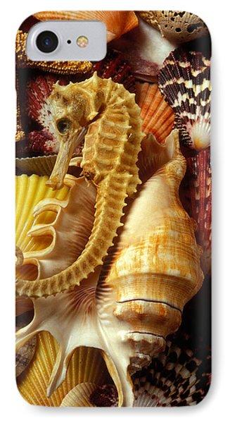 Seahorse Among Sea Shells IPhone Case