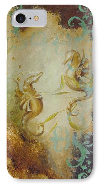 Seahorse Dream 1 IPhone Case by Dina Dargo