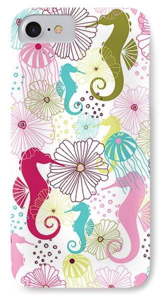 Seahorse Flora IPhone Case by Susan Claire