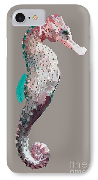 IPhone Case featuring the digital art Seahorse by Megan Dirsa-DuBois