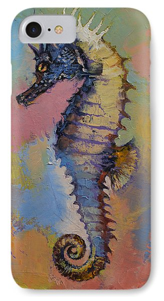Seahorse IPhone Case by Michael Creese