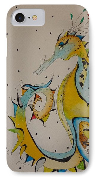Seahorse Phone Case by Michelle Thompson