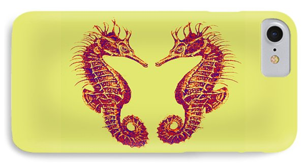 Seahorses In Love Phone Case by Jane Schnetlage