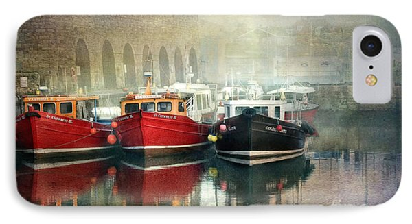 IPhone Case featuring the photograph Seahouses Harbour In Mist by Brian Tarr