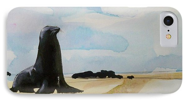 IPhone Case featuring the painting Seal Rock by Ed  Heaton