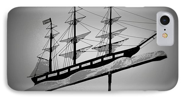 IPhone Case featuring the photograph Seaman's Bethel Weathervane  by Kathy Barney