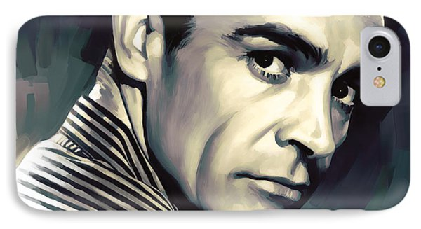 Sean Connery Artwork Phone Case by Sheraz A